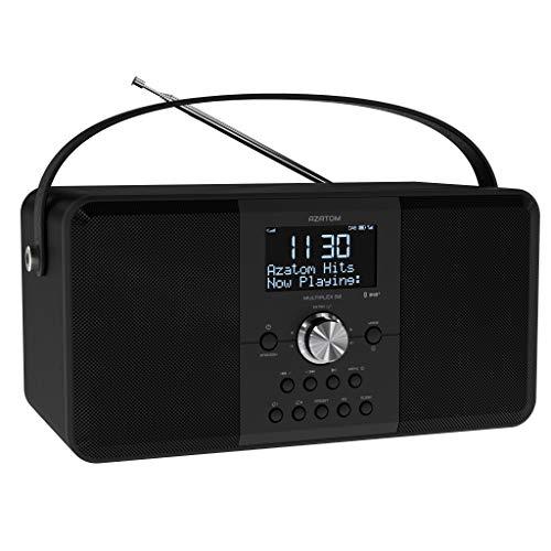 AZATOM Multiplex D2 DAB+ FM Digital Radio & Alarm Clock - Bluetooth 5.0 -...