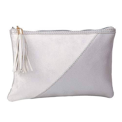 LYX Tragbare wasserdichte lagerung Kosmetiktasche Damen pu gesäumt Kosmetiktasche einfache Mode nähen Hand Abendtasche Make-up Hand Tasche Aufbewahrungstasche geeignet for zu Hause und Reise lagerung