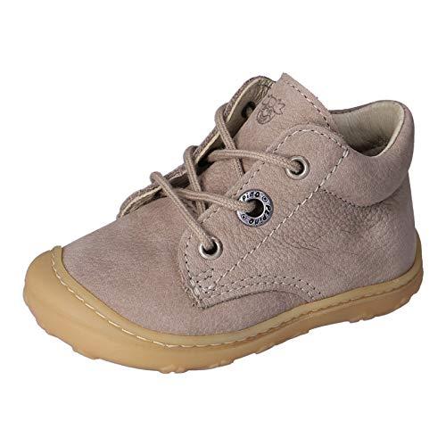RICOSTA Unisex - Kinder Lauflern Schuhe Cory von Pepino, Weite: Schmal (WMS),terracare, Freizeit leger schnürschuh flexibel,kies,22 EU / 5.5 Child UK