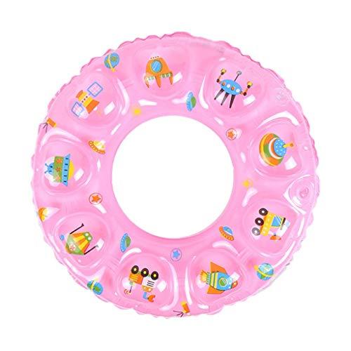 Gcxzb Schwimmreifen Aufblasbarer Ring schwimmring aufblasbare Lounger Rohr Float Pool Spielzeug Schwimmen Schwimmen Kleinkind Kinder rosa süß (Size : 70)