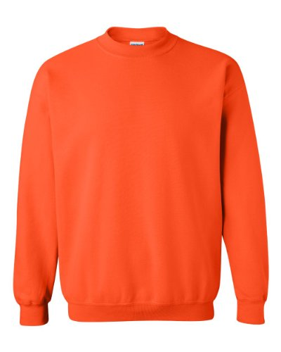 Gildan Men's Heavy Blend Crewneck Sweatshirt - Medium - Safety Orange