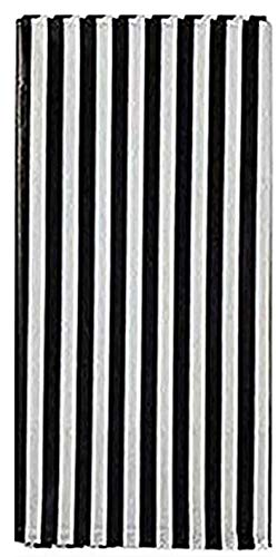 Plastic Picnic Party Tablecloth ,6 Pack Plastic Picnic Tablecloth 54 Inch. x 108 Inch. Rectangle Table Cover (Black White Stripe)