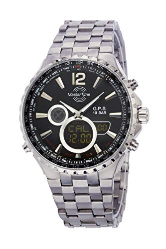 No Name (foreign brand) Chronograph braccialettouhr MTGT-10634-10M (Ø x H) 46mm x 14mm argento casematerial=Titan Material (A