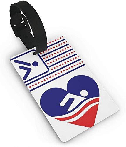 Schwimmen Zeichen Gepäckanhänger mit Namensidentifikations Karte Vervollkommnen Sie Um Gepäck Koffer Schnell zu Beschmutzen