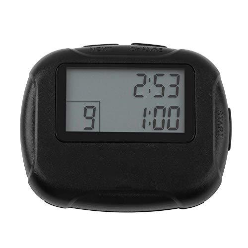 JUZEN Timer, elektronischer Intervall-Timer Segment Stoppuhr Intervall-Chronograph Kochen Hängeloch, Badezimmer, Kinder, Countdown-Stoppuhr mit lautem Wecker