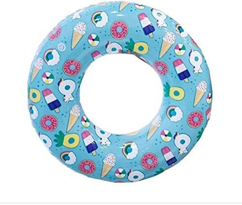 Rettungsring Aufblasbarer Schwimmring Netto Rot Wasser Liefert Umweltschutz PVC Pegasus Schwimmring Geeignet für Erwachsene Kinder Strand Liegestühle Rosa-80cm Größe: 80cm (Farbe: Blau Größe: 80cm)-