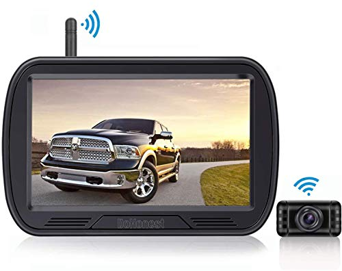 HD Digital Wireless Backup Camera System 5 Inch TFT Monitor for...