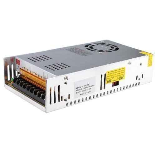 MENZO 24V 15A DC Universal Regulated Switching Power Supply 360W for CCTV, Radio, Computer Project, LED Strip Lights