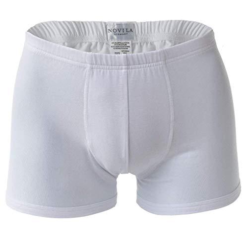 Preisvergleich Produktbild NOVILA Herren Sport-Pants - Shorts,  Stretch Cotton,  Fein-Single-Jersey,  Uni Weiß S (Small)
