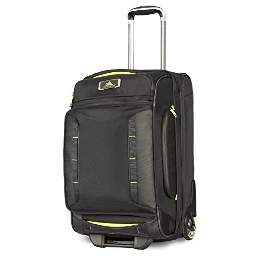 "High Sierra AT8 22"" Carry-On Wheeled Duffle Upright, Black/Zest"