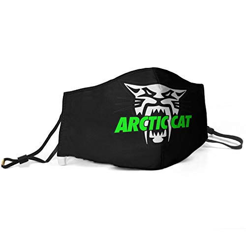 Womens Mens Arctic-Cat-Logo- Mouth Cover Comfortable Face Mask with Adjustable Ear Loops