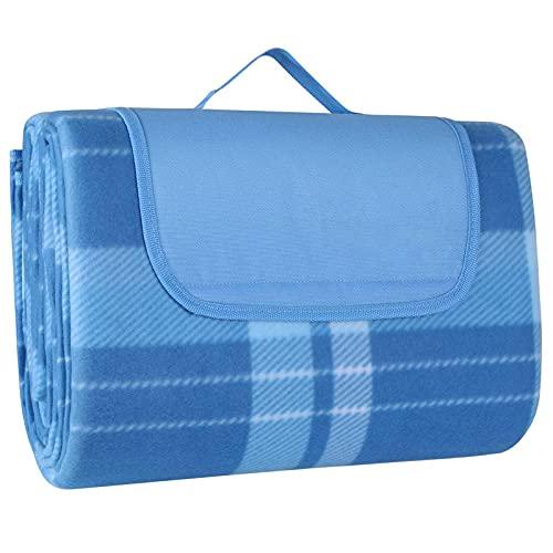 200 x 300 cm, manta de pícnic XXL para exteriores, resistente a la arena, impermeable, forro polar, con asa de transporte