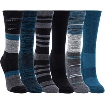 Kirkland Signature Ladies  Crew Trail Socks Extra-Fine Merino Wool Teal 6 Pairs