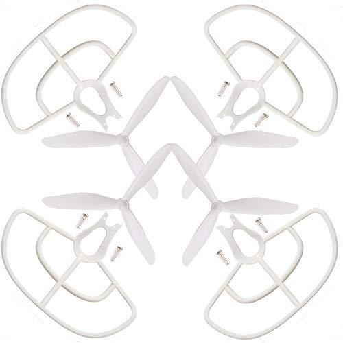 wchaoen Set di Protezioni for eliche a 3 Pale a 3 Pale for BAYANG X16 X21 RC Drone Quadcopter Ricambi Accessori per Utensili