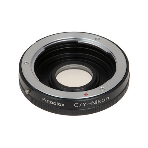 Fotodiox Pro Lens Mount Adapter Compatible with Contax/Yashica (CY) Lenses on Nikon F-Mount Cameras