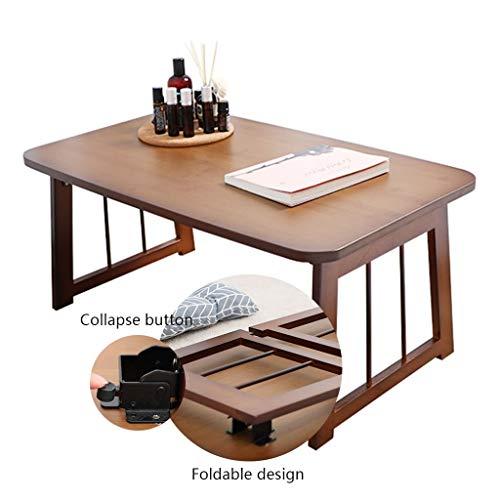 Opvouwbare tafel voor bed Computer Bureau Bamboe Vouwbed Kleine Tafel Japanse stijl Home Bay Vensterbank Upgrade Versterking