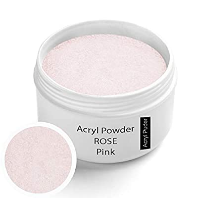 Acryl Pulver rose klar