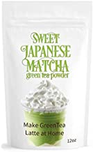 Sweet Japanese Matcha 12oz Green Tea Powder Mix | Made with Japanese Matcha | Homemade Matcha Green Tea Latte or Frappe | Matcha Outlet
