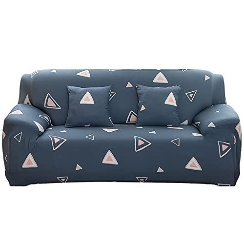 ALWWL Funda Protectora de Muebles para sillón de sofá Setcha, súper Estiramiento de Tela Suave, Varios Patrones Sofá Funda de sofá con la Misma Funda de Almohada de Estilo- Pattern 42   4 Seater
