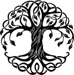 Decorative Celtic Tree Of Life - 4.5 Inch Vinyl Sticker - Bumper Sticker Walls Laptops Trucks - Graphic Sticker