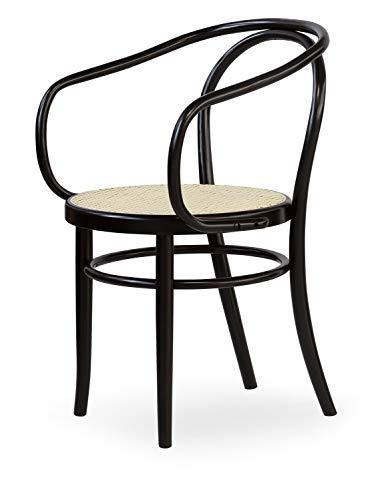 Silla Thonet Viennese de madera curvada Bent Wood asiento de paja vintage para restaurante hecho a mano Made in Italy ya montada color natural