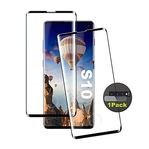 Pellicola protettiva in vetro temperato per Galaxy S10, [2 pezzi] di alta qualità [sensore di impronte digitali] [HD Clear] [senza bolle] pellicola in vetro temperato per Samsung Galaxy S10