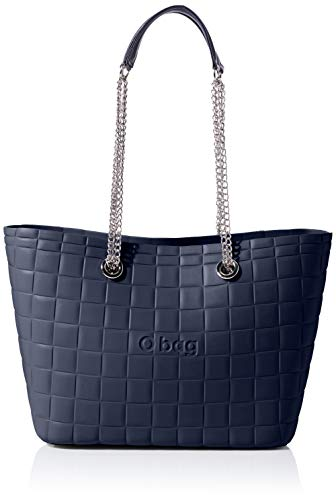 O bag Damen Borsa Urban Mini Clutch, Blau (Blu Navy), 41x12x26 Centimeters