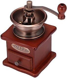 コーヒー豆グラインダー木製の手動コーヒーグラインダーハンドステンレススチールセラミックMillstonレトロコーヒースパイスミニバリミル