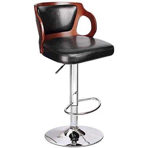 Decorazione di mobili La moderna pelle pu quadrata può essere regolata sullo schienale alto sgabello rotante alto adatto per bar caffetteria ristorante sedia sgabello da bar sgabello di sicurezza c