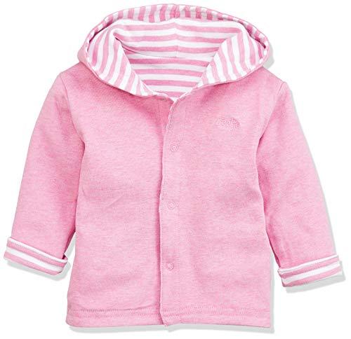 Feetje Chaqueta reversible para bebé con capucha Uni/Ringel 518137 rosa Melange (960) Talla 62