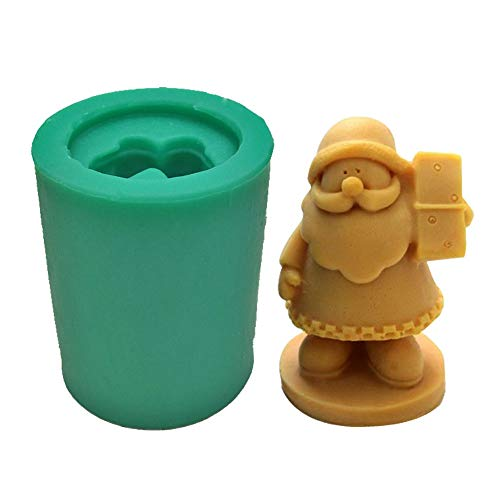 Santa Claus soap Mold DIY Silicone Cake Mold 3D Father Christmas Chocolate Mould Kitchen Jelly Dessert Candle molds S0012SD25