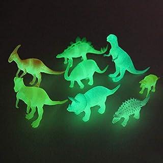 SaleON Set of 8 Glow in The Dark Luminous Dinosaur Action Figures Night Light Dinosaur Toys Easter Gift for Child Baby (1318)