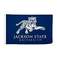 Desert Cactus Jackson State University NCAA 100% Polyester Indoor Outdoor 3 feet x 5 feet Flag (Style 4a) [並行輸入品]