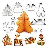 Molde Galleta Tridimensional De Material De Acero Inoxidable Suministros De Fiesta De Navidad 8 Series