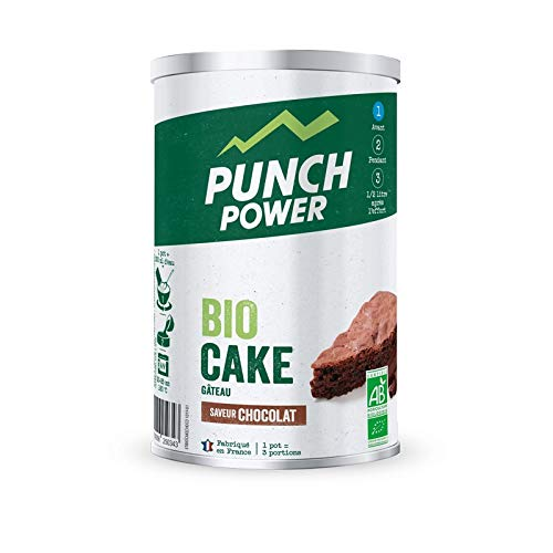PUNCH POWER - Biocake - Chocolat - Pot 400g - Préparation Pour Gâteau pour sportifs - Glucides Complexes - Bio - Sans Gluten - Marque Française