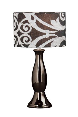 Premier Housewares Doré en céramique Glamour Lampe de table avec abat-jour en tissu Doré Parent