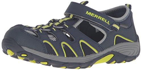 Merrell Unisex-Kid's Hydro H2O Hiker Sandal Sport, Navy/Lime, 3 Big
