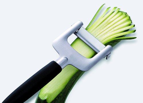 Couteau professionnel à julienne. Pour couper en fines lanières de 3 x 3 mm : courgettes, carottes, concombres, navets, pommes, poires…