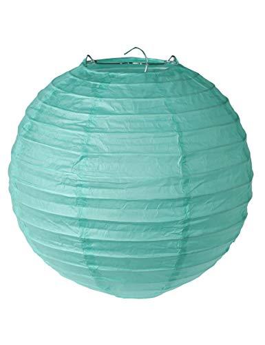 SANTEX 4312-28-20, Sachet de 2 lanternes M 20cm, Vert menthe