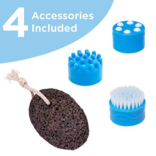 Ivation Foot Spa Massager - Heated Bath, Automatic Massage Rollers, Vibration, Bubbles, Digital Adjustable Temperature Control, 3 Pedicure Attachments