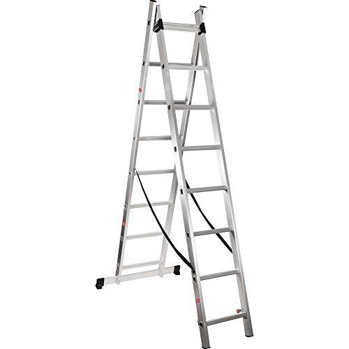 Escada Extensiva de Alumínio 2 x 8 degraus Vonder