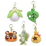 Animal Crossing muñecos de Peluche Llavero Juguetes de Peluche Llavero Relleno (5 PCS)