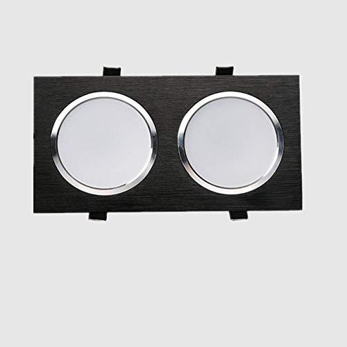 Plafondlamp met spots voor plafondlampen, spot met ingebouwde LED-spot, met anti-condens-grill, voor buiten, downlight Corridoio Corridoio plafondlamp, inbouwlamp, Soffi