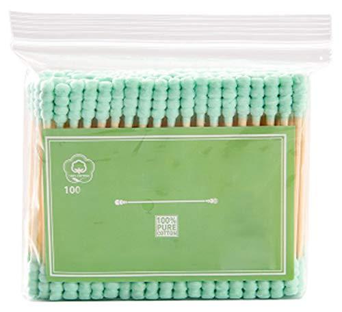 Cotons-tiges de sécurité 100 pièces Coton-tige à double pointe Bâtons de nettoyage polyvalents #28