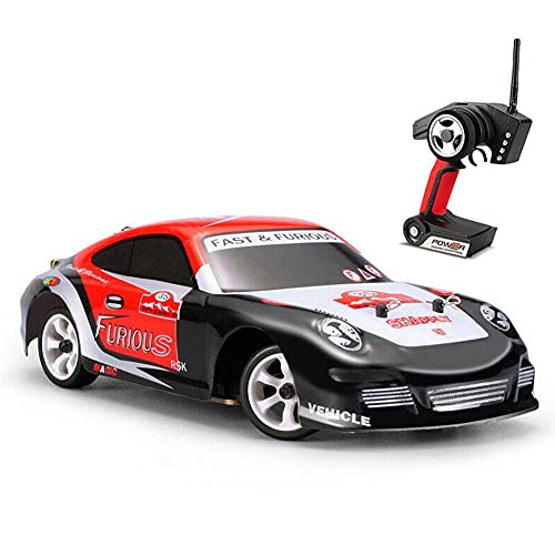 Coche de control remoto de cuatro ruedas de los niños mini juguetes eléctricos de alta velocidad coche de carreras de deriva 1:28 tire mosquito car