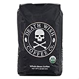 Death Wish Coffee, The World's Strongest Whole Bean Coffee, Fair Trade and USDA Certified Organic, 5 lb