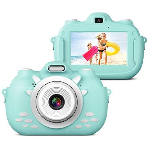 Kinderkamera Digital-Selfie Digitalkamera für Kinder, 3 Inch HD Touch Videokamera Stoßfeste Wiederaufladbare Camcorder für Jungen Mädchen Geschenke(Blau)