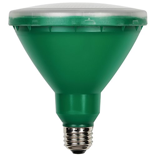 Westinghouse Lighting 0314900 15W PAR38 LED Outdoor Bulb, Flood Green E26 (Medium) Base, 120V, Box