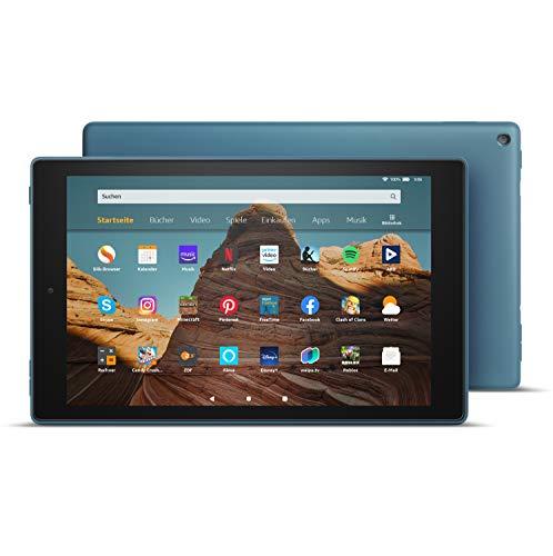 FireHD10-Tablet, Zertifiziert und generalüberholt, 32 GB, Dunkelblau – 10,1Zoll großes FullHD-Display (1080p), Mit Werbung