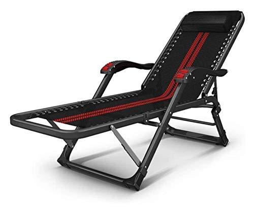 MTCWD Heavy Duty Muebles de jardín Conjuntos de sillas Tumbona jardín Que acampa Plegable de la Gravedad Cero Hamaca reclinable